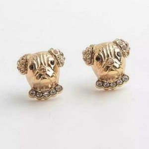 Kate Spade Paved Puppy Stud Earrings NWT w Pouch